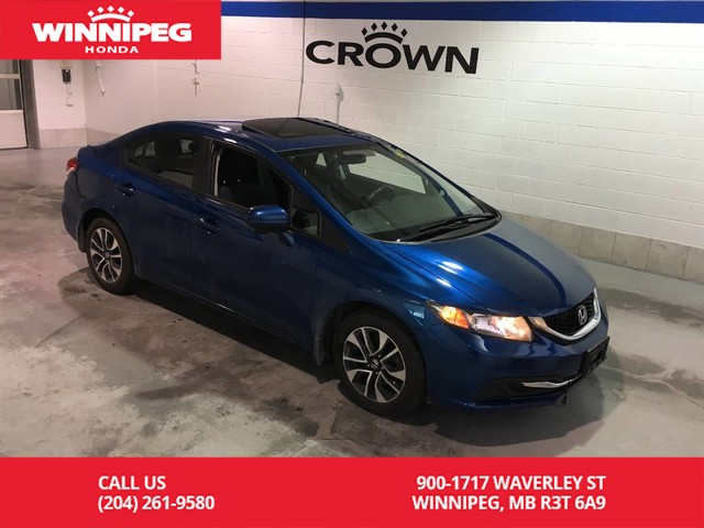 Pre-Owned 2015 Honda Civic Sedan EX/Sunroof/Bluetooth/Heated seats/Lane watch display