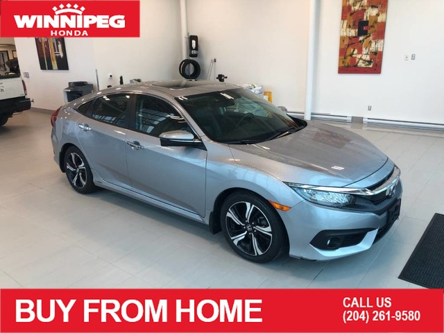 Pre-Owned 2017 Honda Civic Sedan Touring / Lane watch camera / Navigation / Heated front and rear seats