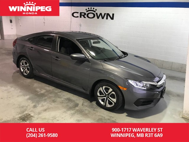 Certified Pre-Owned 2016 Honda Civic Sedan Certified/LX/Heated seats/Bluetooth/Rear view camera