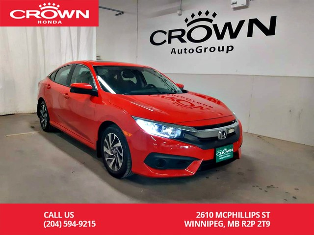 Pre-Owned 2017 Honda Civic Sedan EX/***24th ANNUAL VICTORIA DAY SALE*** one  owner lease return/low kms/ heated seats/back up cam/ sunroof FWD Sedan