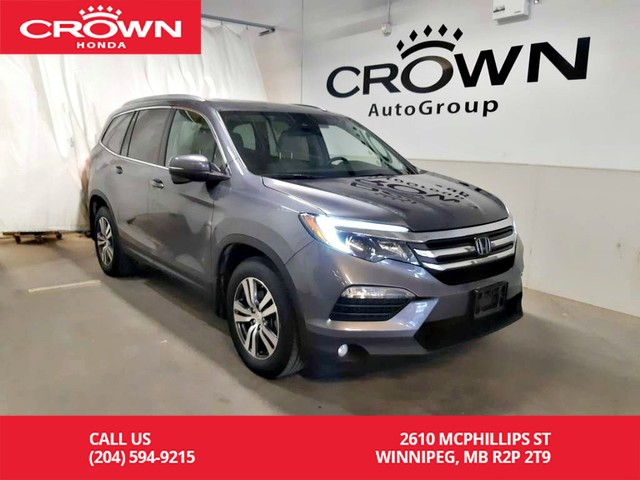 Certified Pre-Owned 2016 Honda Pilot EX-L w/Navigation sys/ one owner/ 8 seater/ push start/ heated seats/ sunroof/ econ mode