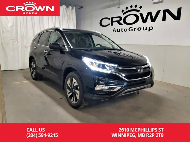 Pre-Owned 2015 Honda CR-V Touring/ one owner/ low kms/ push start/econ mode/navigation sys