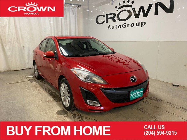 Pre-Owned 2010 Mazda3 4dr Sdn Auto GT/ ONE OWNER/ LOW KMS/ HEATED FRONT SEATS/ SUNROOF/ BLUETOOTH CONNECTIVITY/ REMOTE STARTER