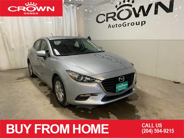 Pre-Owned 2018 Mazda3 Sport GS/ LOW KMS/ HEATED FRONT SEATS/ BACKUP CAMERA/ SUNROOF/ BLUETOOTH CONNECTION