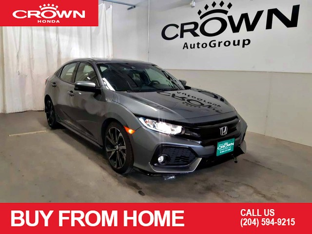 Certified Pre-Owned 2018 Honda Civic Hatchback Sport CVT w/Honda Sensing/ ONE OWNER LEASE RETURN/ LOW KMS/ BACK